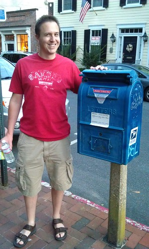 Paul found the smallest mailbox in Annapolis