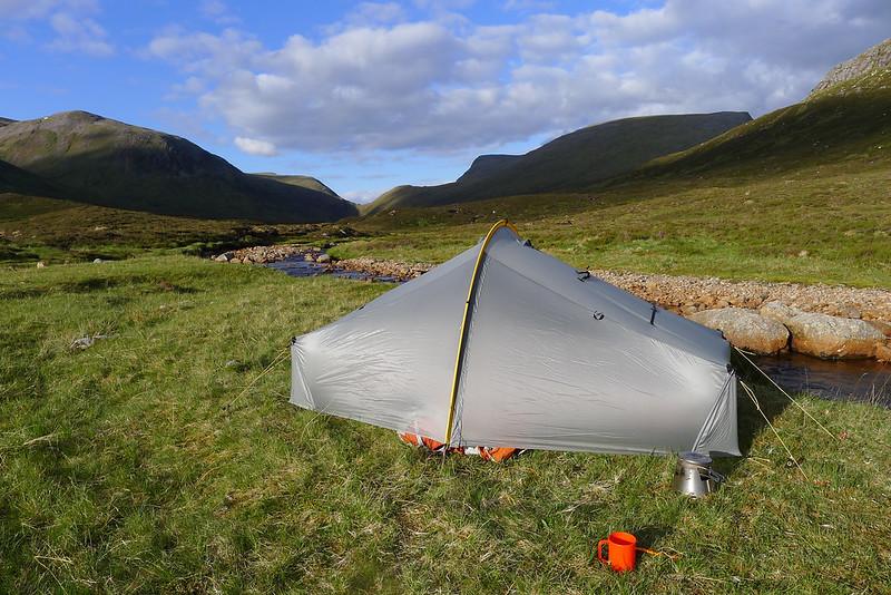 Wild camping near Ben Alder
