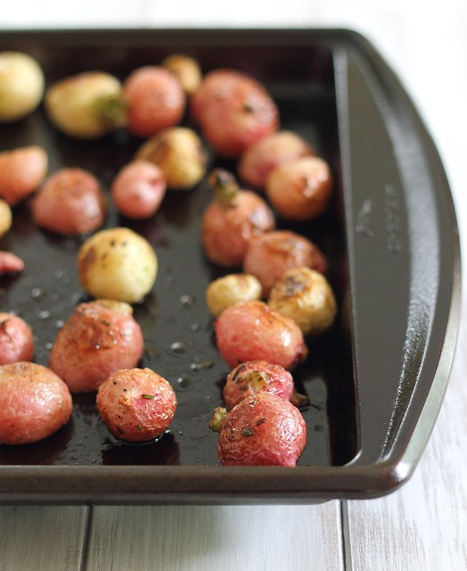 Salted roasted radishes