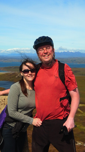 Mike and HB on top of Meall an Fheadain