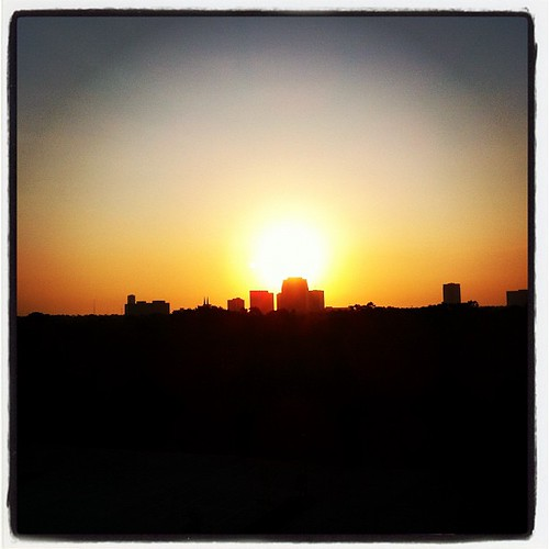 Sunrise over Houston. by MAStapleton