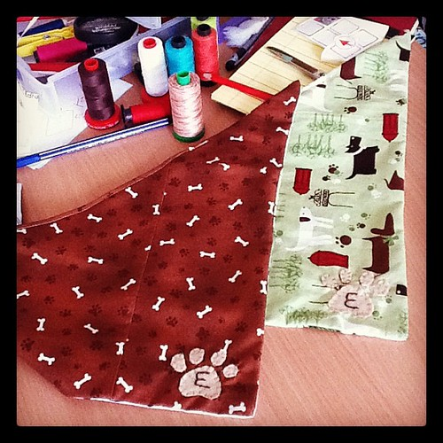 Two new handmade dog bandanas #dogs #cute #accessories #crafts