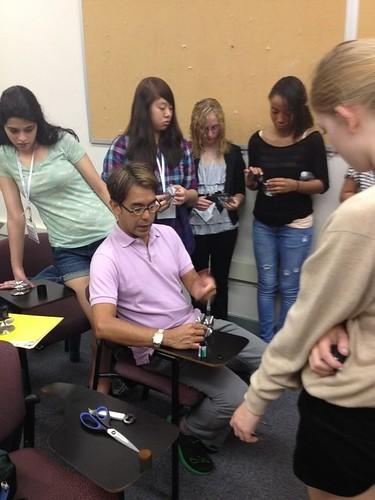 NSLC COMM Students Learn 35 MM Film