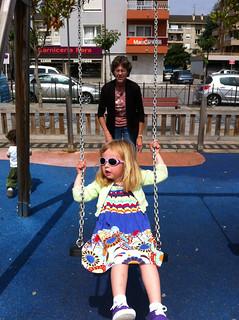 Betsy Pushing Nora