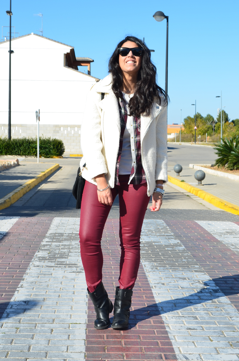 florenciablog total look burgundy inspiration burgundy look granate fieltro jacket cream jacket gandia españa bloggers (4)