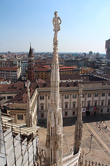 spire and views of Milan