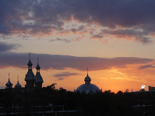 A sunset and minarets