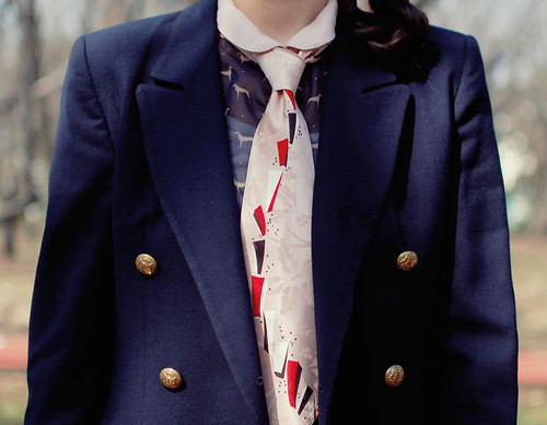 sailor chis with pink necktie