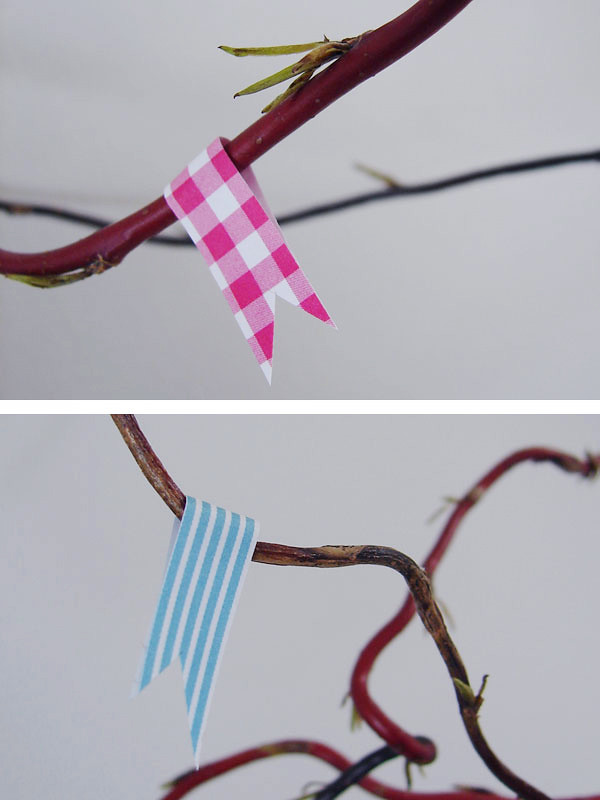 Masking tape flags
