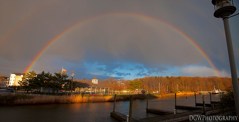Rainbow over Milford Harbor
