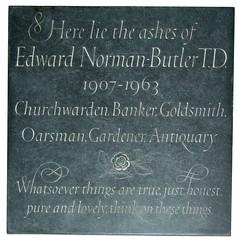 churchwarden, banker, goldsmith, oarsman, gardener, antiquary