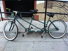 mountain bike(0.0), bicycle trailer(0.0), bmx bike(0.0), hybrid bicycle(0.0), cyclo-cross bicycle(0.0), racing bicycle(0.0), cart(0.0), recumbent bicycle(0.0), road bicycle(1.0), wheel(1.0), vehicle(1.0), sports equipment(1.0), iron(1.0), land vehicle(1.0), bicycle wheel(1.0), bicycle frame(1.0), bicycle(1.0),