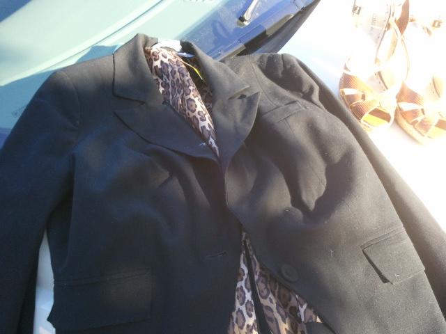 Leopard lined blazer
