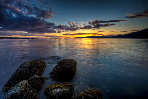 sunset canada vancouver clouds bc stanleypark hdr
