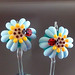 Earring pair : Sunflower (skyblue)