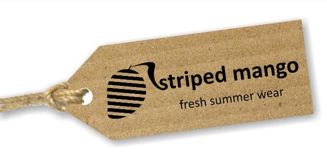 Striped Mango Label