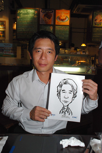 caricature live sketching for emc NUS - 11