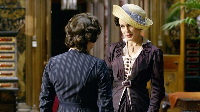 DowntonAbbeyS01E07_CoraDarkIridescentPurple