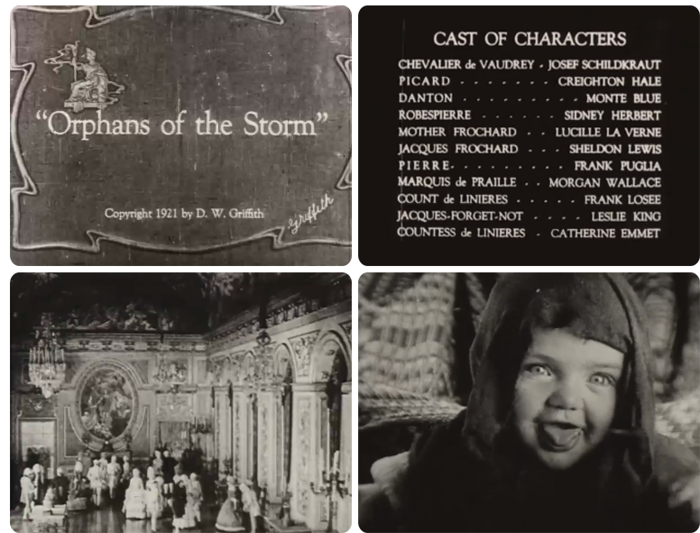 Orphans of the Storm, 1921