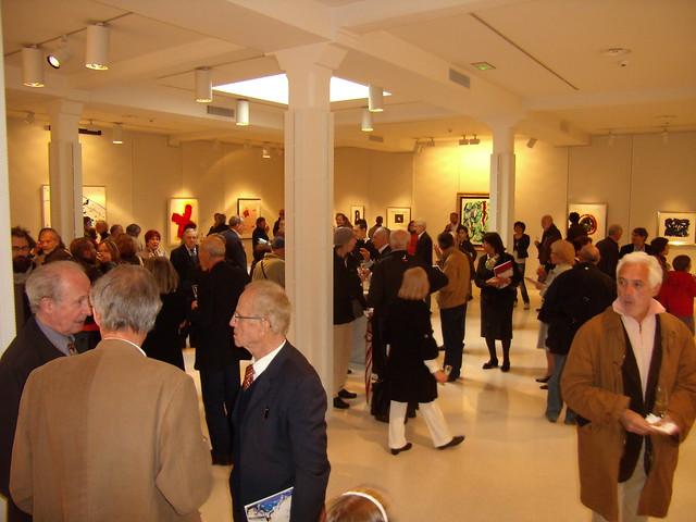 inaugurazione mostra Sam Francis Brescia