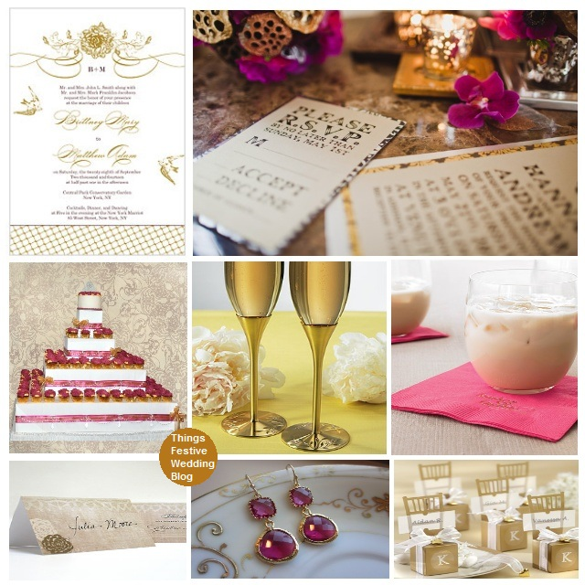 Fuchsia and Gold Wedding Theme Product image sources