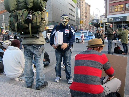 Occupy Wall Street: A25, Union Square, Freddy Kruger's Nightmare on Wall Street?