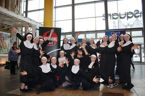 sister act flashmob aberdeen performing arts. Black Bedroom Furniture Sets. Home Design Ideas