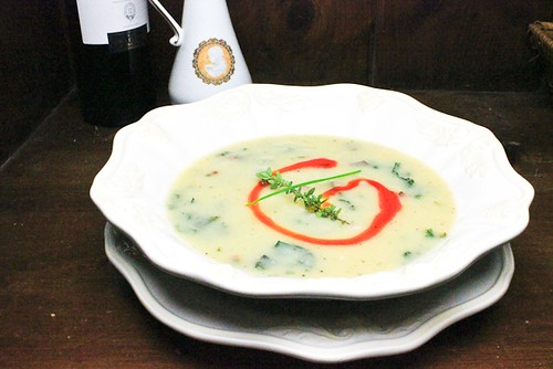 new take on Portuguese soup (caldo verde)