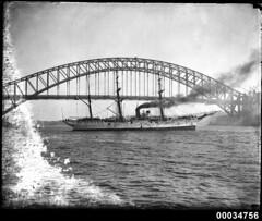 GENERAL BAQUEDANO leaving Farm Cove, Sydney Harbour, 31 July 1931