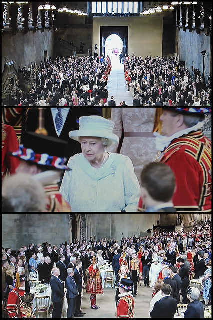 Jubilee Procession - collage from BBC1