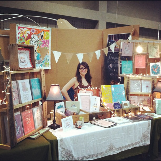 at renegade craft fair austin working my booth flickr. Black Bedroom Furniture Sets. Home Design Ideas
