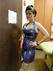Fantasy style hair and makeup fashion show entry