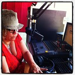 Rita Houston about to kick off the Whole Wide World live from Bonnaroo on Friday night.