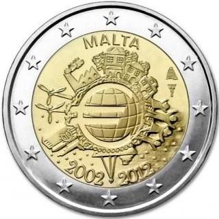 2 Euro Malta 2012, 10. výročie zavedenia Eura