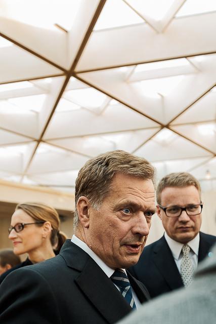Suomen tasavallan presidentti Sauli Niinisto avaa WDC paviljongin