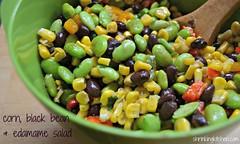 corn, black bean & edamame salad