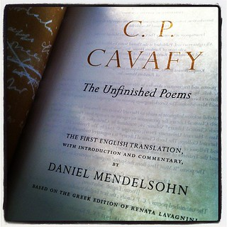 Reading Mendelsohn's #Cavafy on a May Evening