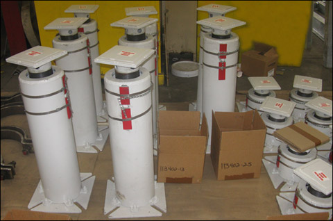232 Variable Spring Supports for a Natural Gas Processing