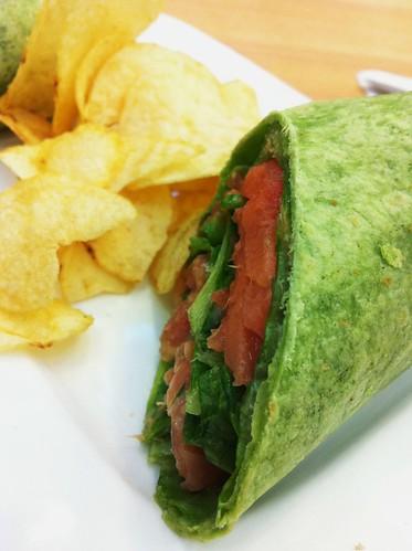 smoked salmon spinach wrap