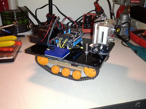 The @Netduino tank is finally ready for @makerfaire