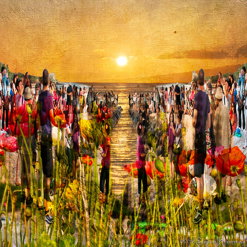 sunset people art texture colors painting hawaii pier waikiki cameras hss happyslidersunday lenabemanna