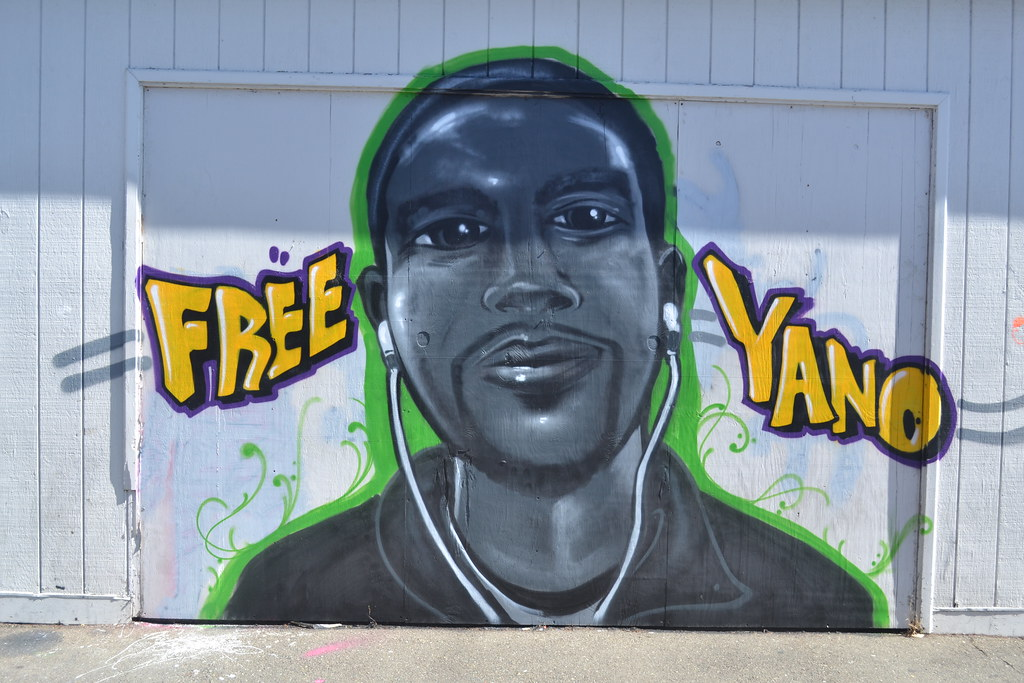 FREE YANO, ANIMAL, OH, AOD, AF, Street Art, Graffiti, Oakland