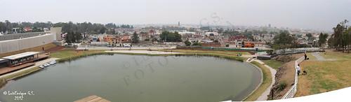 Centro Cívico Cultural 5 de Mayo - Los Fuertes - Lago en El Fuerte de Loreto - Puebla - México