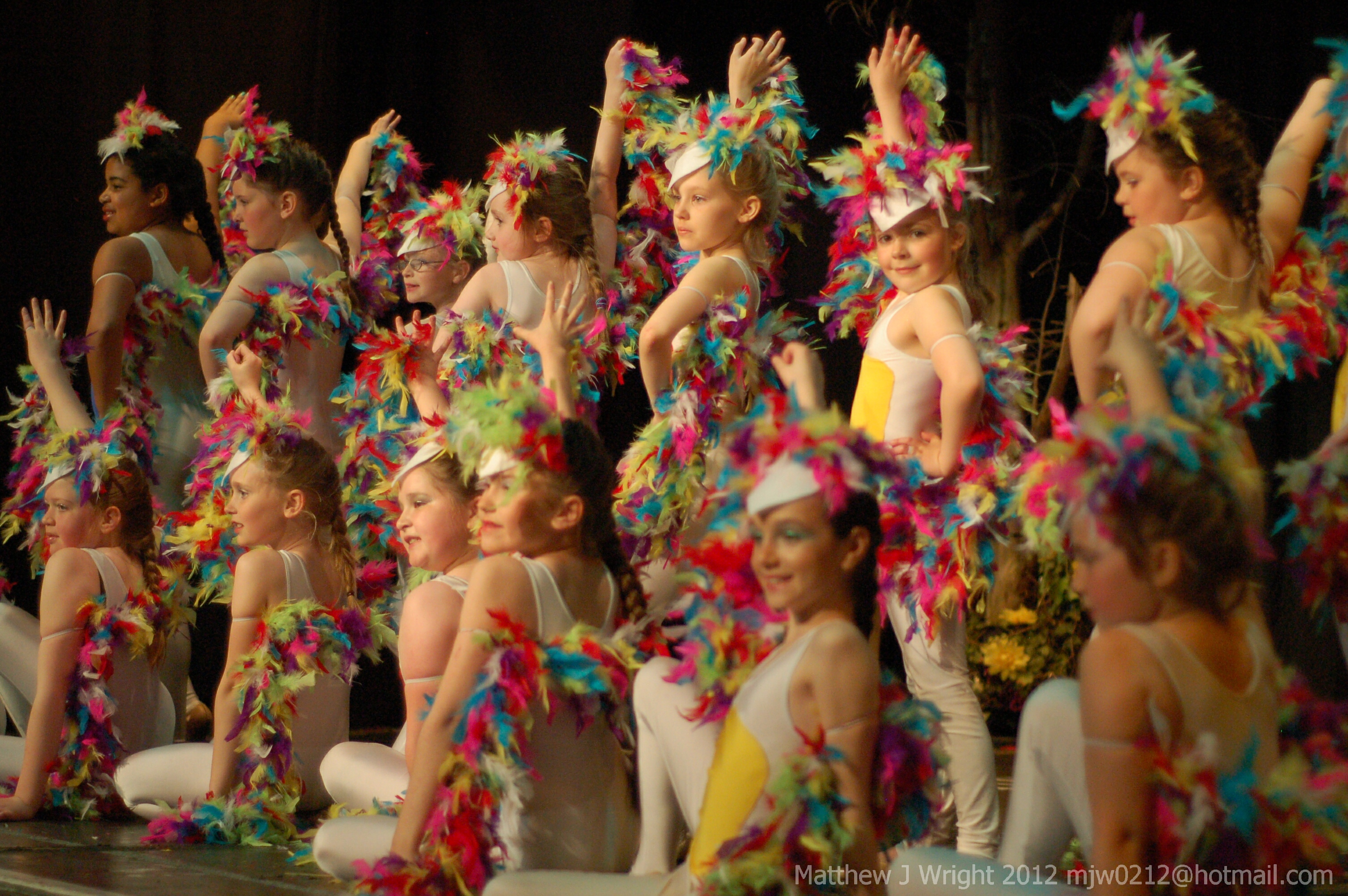 the young chorus line on stage during The Twits, Civic Hall, Ormskirk May 2012