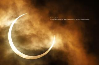 Annular solar eclipse in tokyo 2012