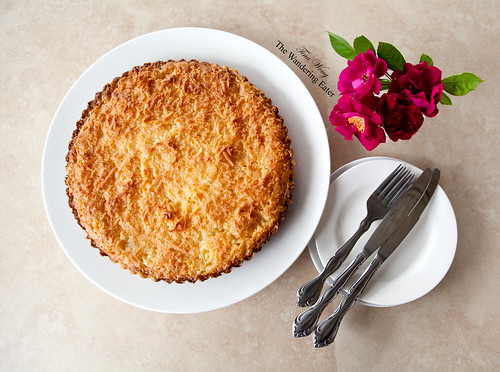 Homemade pineapple coconut macaroon pie