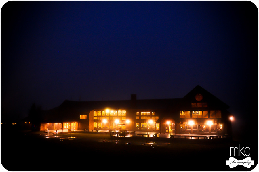 Saddleback Mountain Lodge at Night