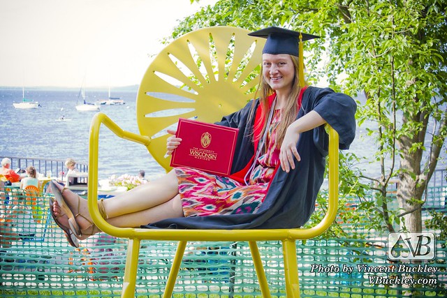 Lauren Buckley in Terrace Chair - UW Graduation