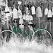Green Bicycle and Buoys