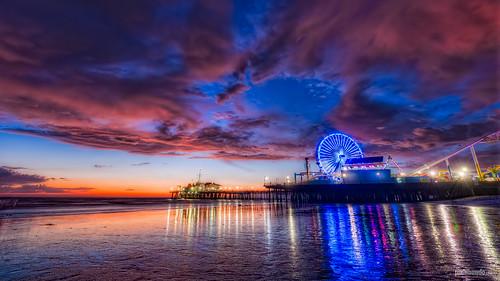 california sunset beach pier losangeles nikon santamonica ferriswheel d700 discoverla pixamundo